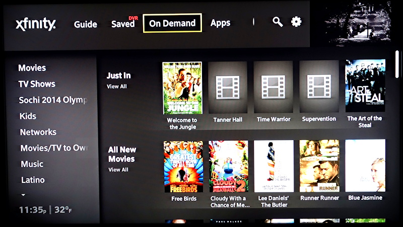 comcast xfinity x1 on demand