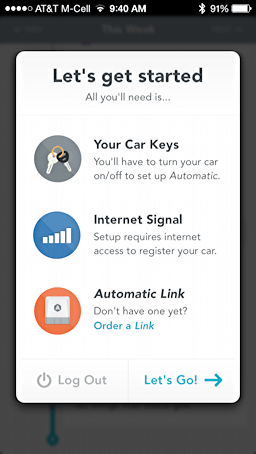 get started with automatic app driving car vehicle