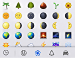 emoji / emoticons in imessage messages app mac os x