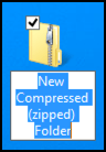 compressed file folder microsoft windows 8.1