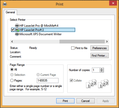 print window in windows 8
