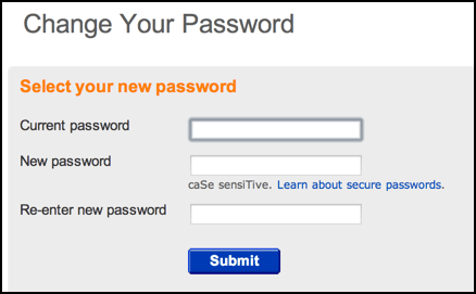 change ebay password enter new choose new
