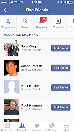 people you may know, fb itunes app