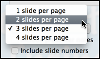 slides per page in keynote pdf output