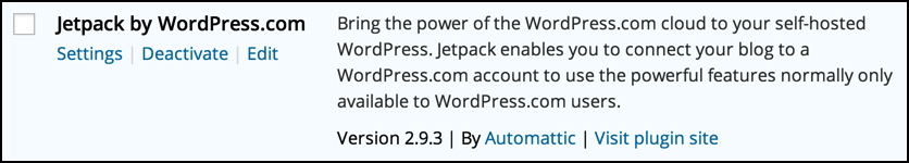 jetpack from automattic is already installed as a plugin on my wordpress blog