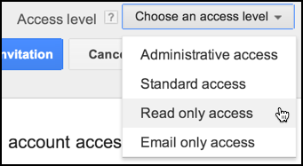 set access account level adwords