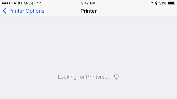 looking for printers...