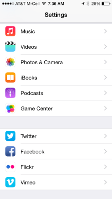 iphone settings, disable fb video movie autoplay loading