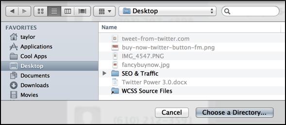 pick where you want the voicemail msgs saved on your Mac OS X system