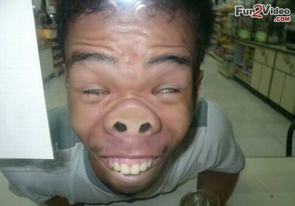 30 Very Funny Weird Face Pictures And Photos Man Making Weird Pig Face Funny Picture