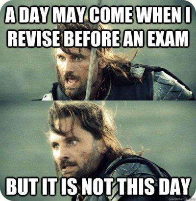 Exam Tomorrow Go On University Of Wisconsin Memes Funny Exam Meme Image