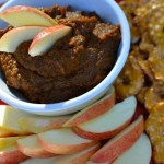 Pumpkin Chocolate Dip with Apples