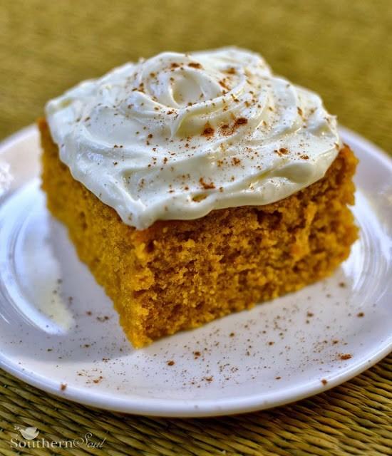 Pumpkin Cake Squares | A Southern Soul