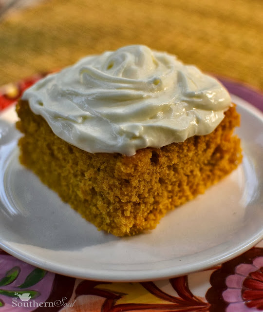 Pumpkin Cake Squares with Icing | A Southern Soul