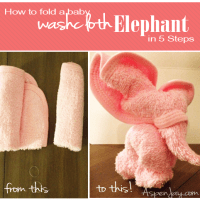 How to fold a Washcloth Elephant