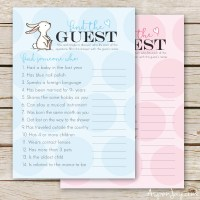 Free Baby Shower Game- Find the Guest