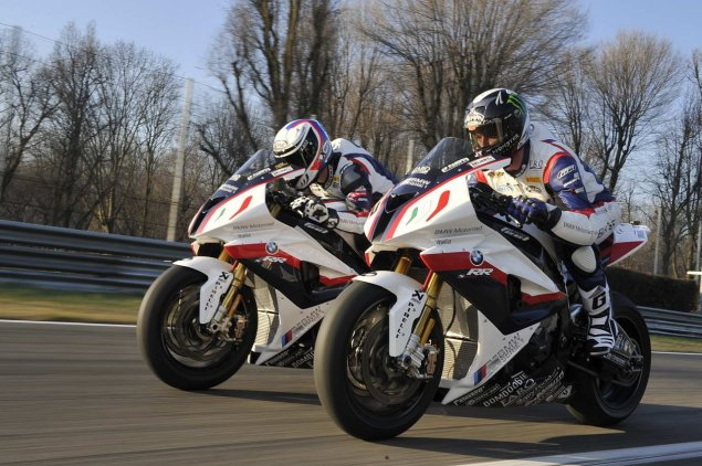 WSBK: BMW Motorrad Italia Launches in Monza BMW Italia WSBK team Ayrton Badovini James Toseland 1 635x422
