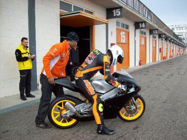 KTM Begins Testing Moto3 Race Bike KTM Moto3 test Cartagena Spain 2