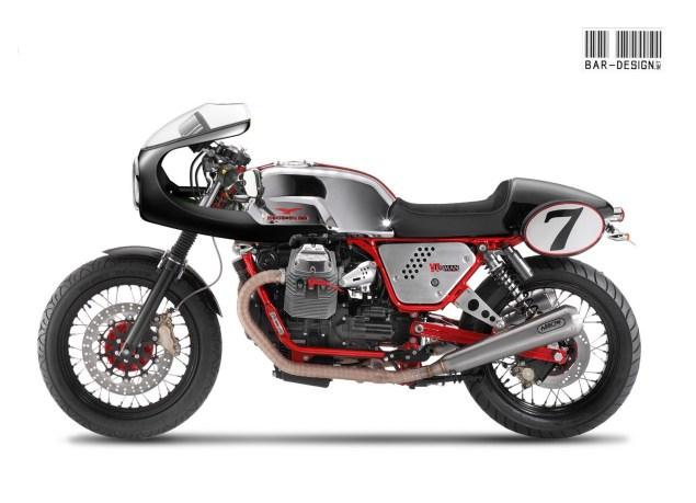 Moto Guzzi V7 Clubman Endurance Racer by Luca Bar Moto Guzzi V7 Clubman Café Racer Luca Bar Design 635x459