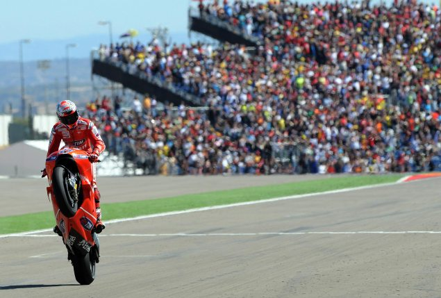 MotoGP Locksdown Motorland Aragon Through 2016 Casey Stoner 2010 Aragon GP Ducati Corse 635x429