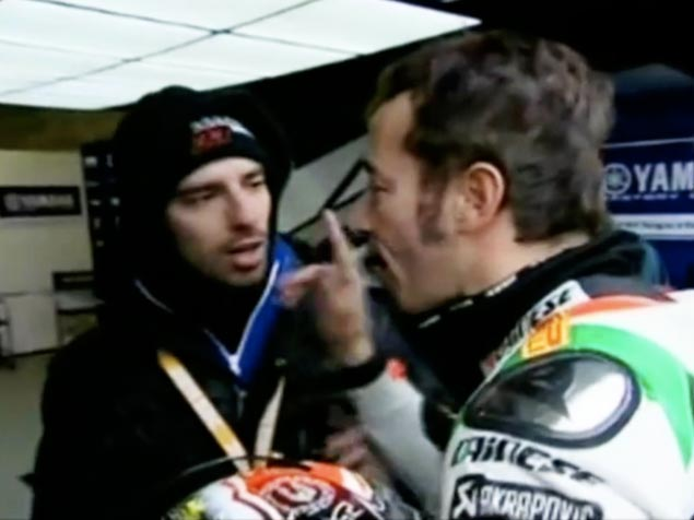 Biaggi to Melandri: What Did the Hand Say to the Face? Max Biaggi slaps Marco Melandri