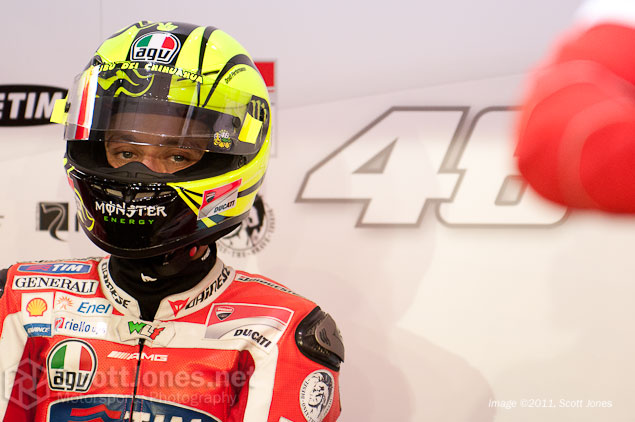 Day Two: Who Really Was the Fastest Around Losail? Valentino Rossi pit box Qatar test