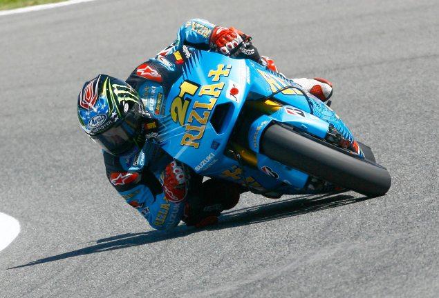 Welcome Back. John Hopkins Elbow Jerez MotoGP Spanish GP Rizla Suzuki 635x432