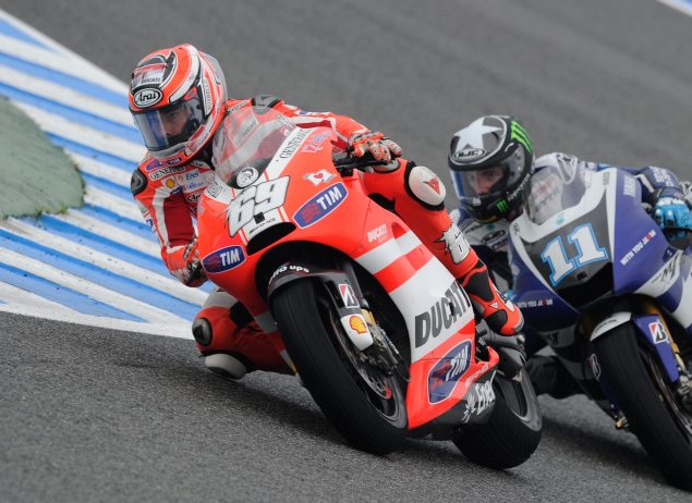 MotoGP: Who Didnt Crash in the Spanish GP? Nicky Hayden Ben Spies Spanish GP Jerez MotoGP 635x462
