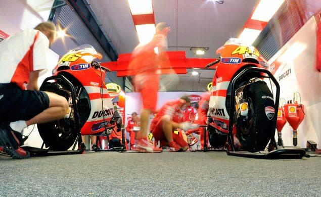 MotoGP: Here Come the 1,000s Rossi Ducati Corse Pit Box 635x390