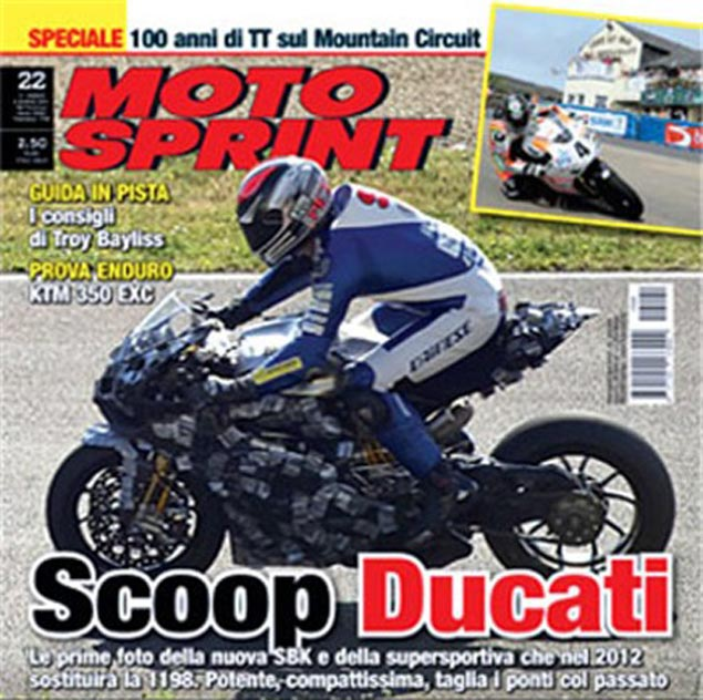 Spy Shot: 2012 Ducati Superbike Superquadrata 2012 Ducati Superbike Superquadrata Mugello spy photo