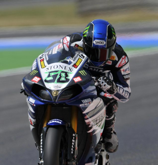 WSBK: Duel Ends in Decisive Victory for Monza Race 1 Eugene Laverty Yamaha Racing WSBK Race 1 Monza 635x660