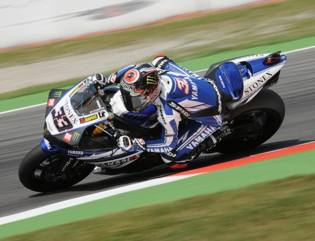 WSBK: Penalties & Last Lap Pass Decide Race 2 at Monza Marco Melandri Yamaha Racing WSBK Race 2 Monza 635x487