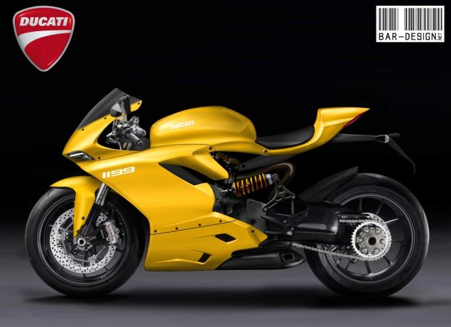 2012 Ducati Superbike 1199 Rendered by Luca Bar Design 2012 Ducati Superbike 1199 Luca Bar Design 3 635x461
