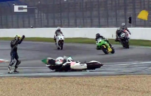 Video: I Hate It When This Happens Bizzar Magny Cours motorcycle race crash
