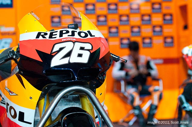 Dani Pedrosa to Miss the Catalan GP Dani Pedrosa MotoGP pit Scott Jones