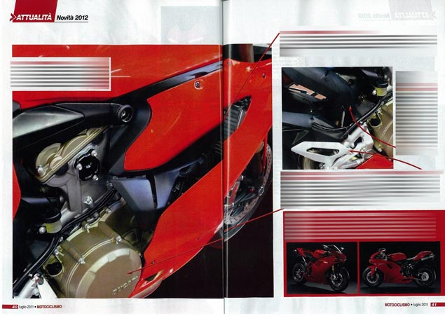 First Shots: 2012 Ducati Superbike 1199 2012 Ducati Superbike 1199 Motociclismo photo leak 3