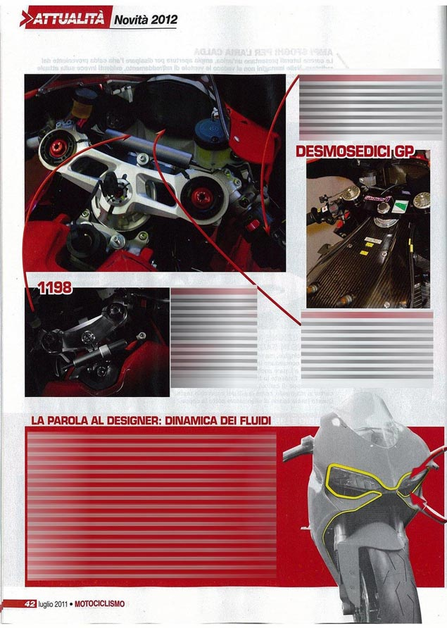First Shots: 2012 Ducati Superbike 1199 2012 Ducati Superbike 1199 Motociclismo photo leak 4