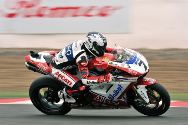 WSBK: Crashes & Fighting Mark a Hot Race 1 at Silverstone Carlos Checa Silverstone1 Althea 635x422