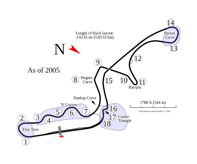 HRC Clarifies Nakamotos Statement   Suzuka Not an Option Suzuka Circuit Map 635x529