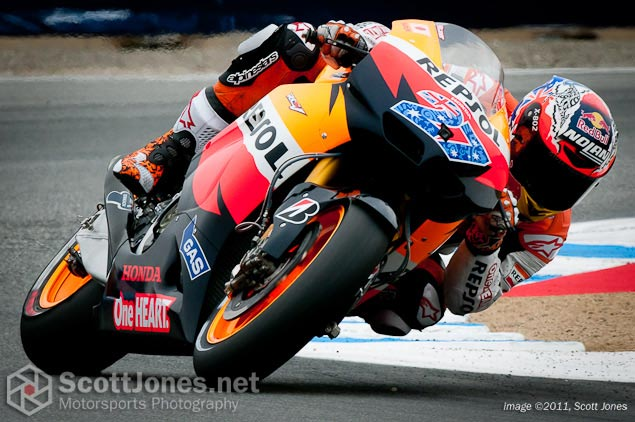 Photo of the Week: Hail to the King Casey Stoner 2011 MotoGP World Champion Scott Jones