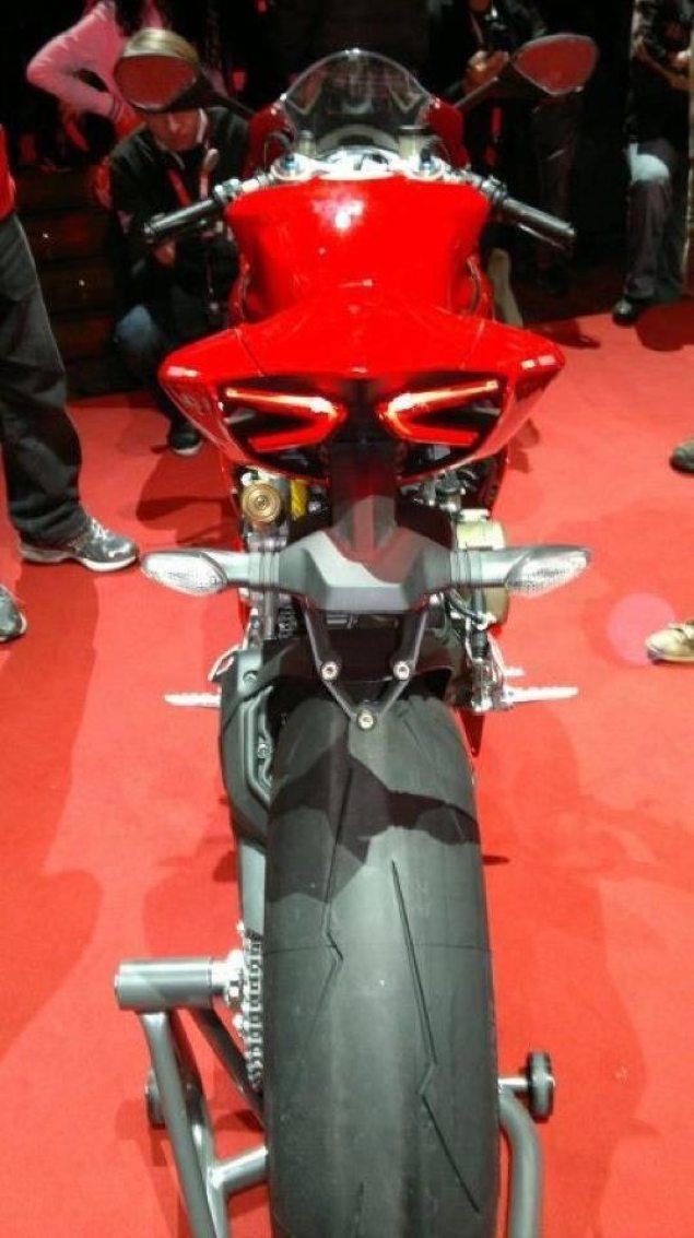 Ducati 1199 Panigale Leaks Ahead of EICMA 2012 Ducati 1199 Panigale rear leak