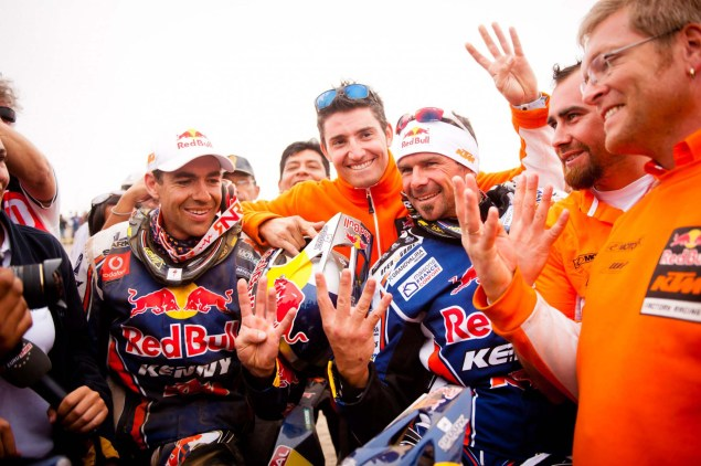 Cyril Despres Wins Fourth Dakar Rally Title Cyril Despres KTM Dakar Rally 2012 44 635x422