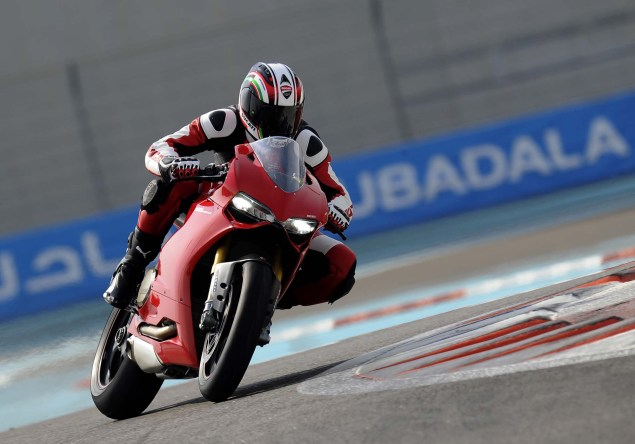 Yas Marina Circuit + Troy Bayliss + Ducati 1199 Panigale S 2012 Ducati 1199 Panigale S Yas Marina Circuit 03 635x444