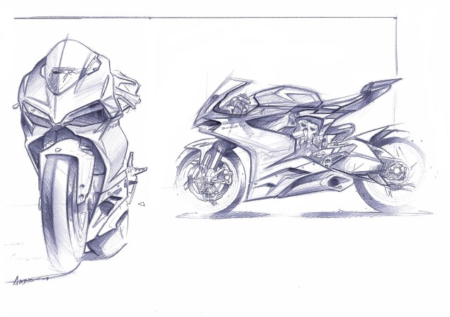 Call Your Mother Because Here is the Ultimate Ducati 1199 Panigale Photo Gallery Ducati 1199 Panigale design sketches 10 635x448