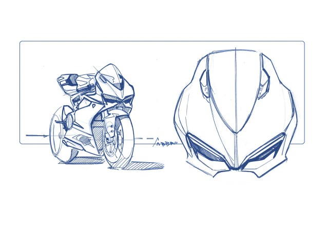 Call Your Mother Because Here is the Ultimate Ducati 1199 Panigale Photo Gallery Ducati 1199 Panigale design sketches 11 635x479