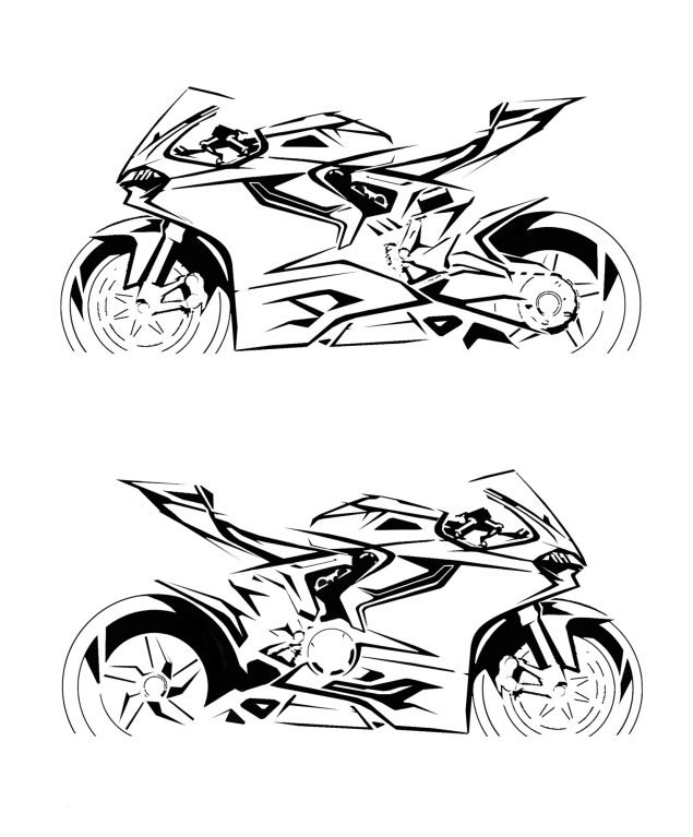 Call Your Mother Because Here is the Ultimate Ducati 1199 Panigale Photo Gallery Ducati 1199 Panigale design sketches 18 635x767