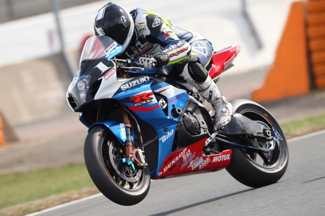 2012 SERT Suzuki GSX R1000 Debuts at Bol dOr Practice Suzuki Endurance Racing Team SERT GSX R1000 01 635x423