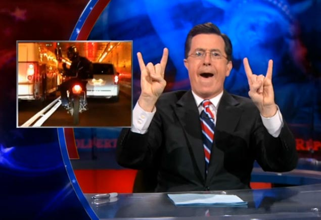 Lincoln Tunnel Hooligan Makes The Colbert Report Motorcycle Lincoln Tunnel Colbert Report