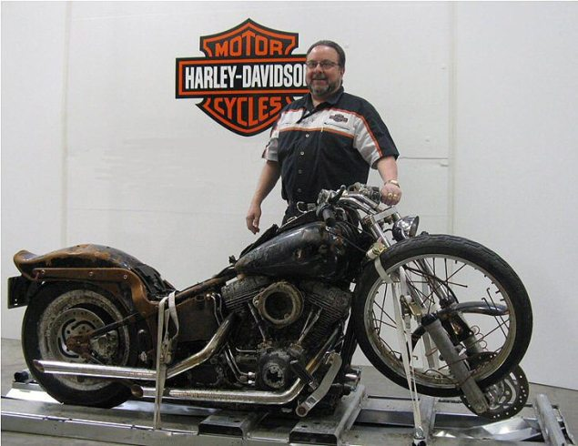 Harley Davidson Swept Away During Japanese Tsunami is Headed to H D Museum After Owner Refuses Its Return Harley Davidson tsunami japan 635x490