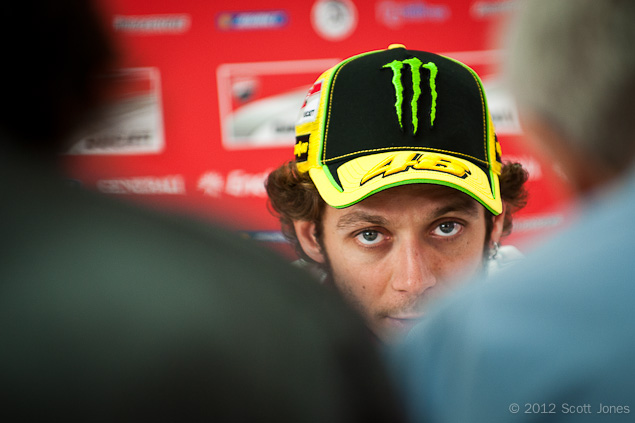 Valentino Rossi Says Two More Years in MotoGP Valentino Rossi press conference MotoGP Scott Jones